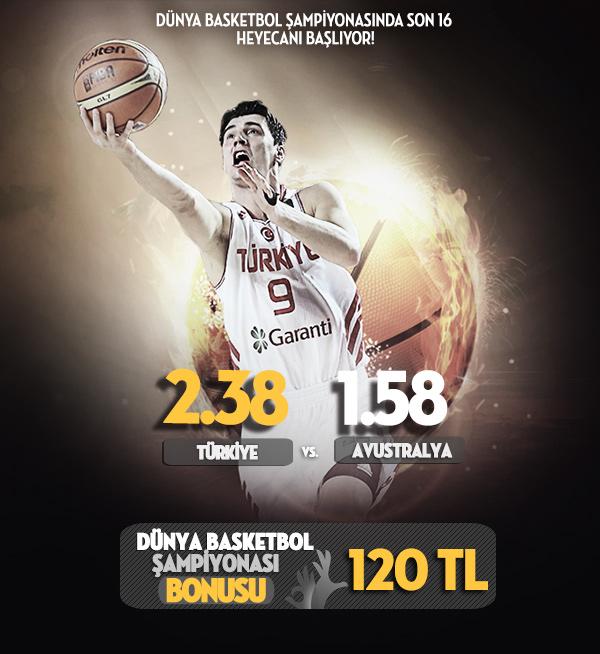 Bets10 dan  Dünya Basketbol Şampiyonası maçlarına 120 TL bonus imkanı