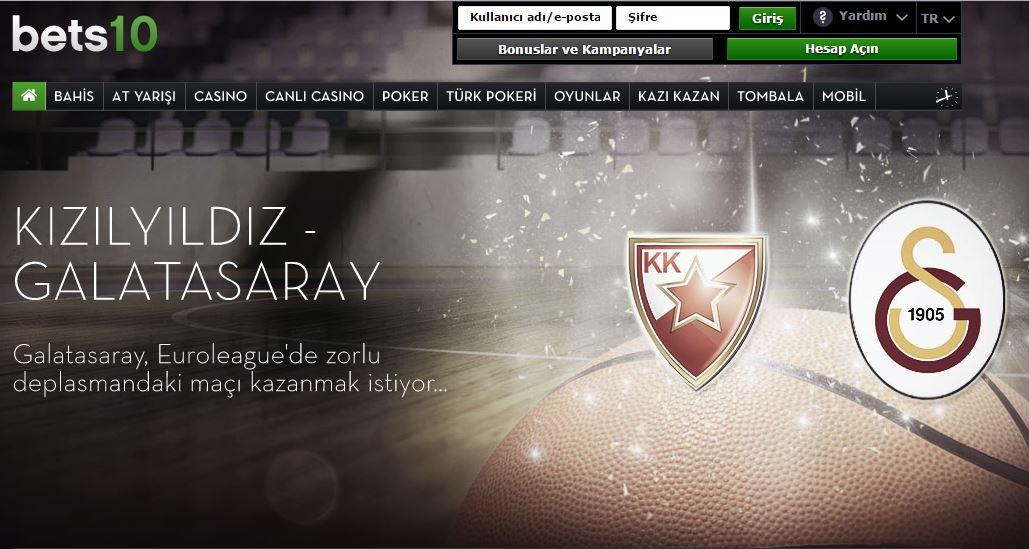 Bets10 Kıızlyıldız-Galatasaray Maçı